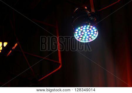 Spotlights in a concert hall