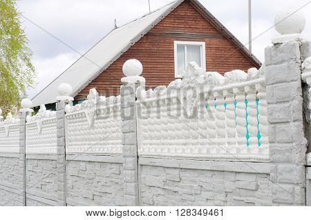 Concrete Fence In Outdoor Decoration