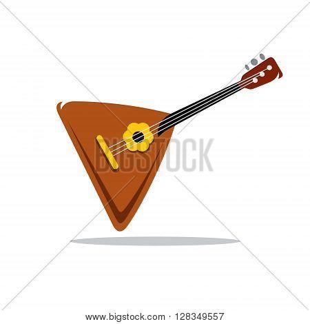 Folk musical Instrument Balalaika Isolated on a White Background