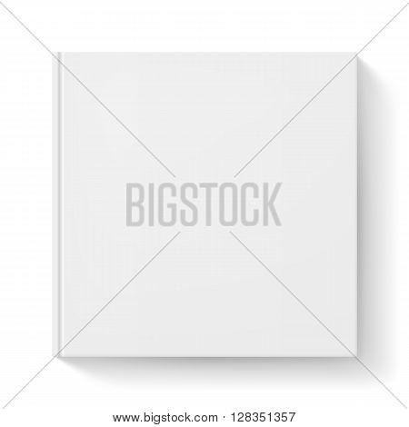 Notebook with white cover. Illustration for design