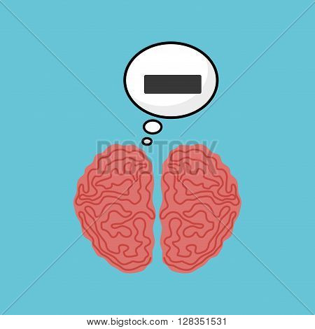Think negative concept with icon design, vector illustration 10 eps graphic.