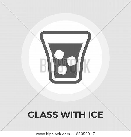Glass whit ice Icon Vector. Flat icon isolated on the white background. Editable EPS file. Vector illustration.