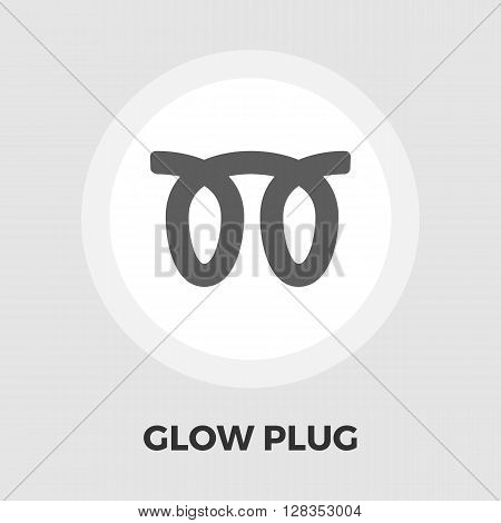 Glow plug icon vector. Flat icon isolated on the white background. Editable EPS file. Vector illustration.