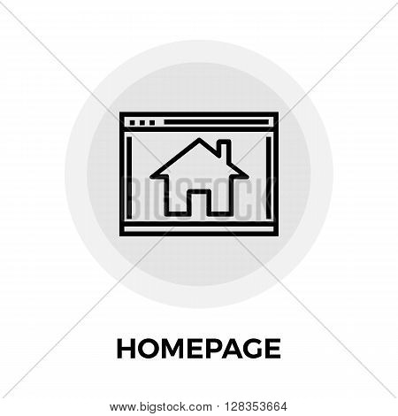 Homepage icon vector. Flat icon isolated on the white background. Editable EPS file. Vector illustration.