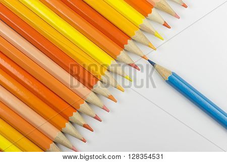 Collection of colorfull pencils as a background picture