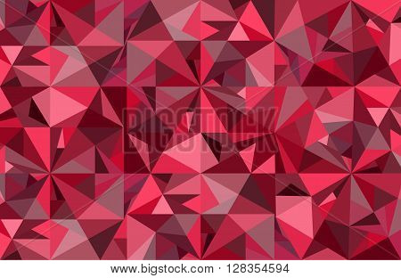 Abstract red diamond vector geometric art background.  Graphic wallpaper for luxury, expensive and passionate theme. Concept of crystal ice, jewel, treasure, diamond.