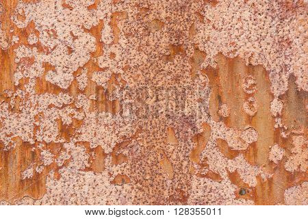 Rusty colorful metal sheet as background picture