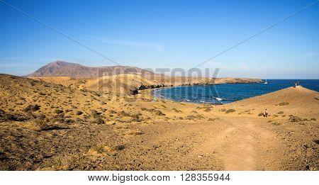 Playa de Papagayo (Parrot's beach) on Lanzarote Canary islands Spain