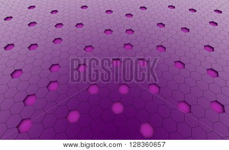 Hexagonal purple cell texture. Speaker grille. Fashion geometric design. Graphic style for wallpaper wrapping fabric apparel print production.