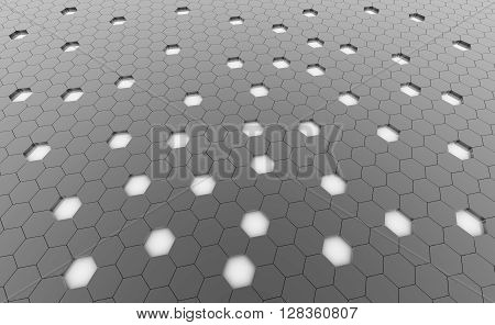 Hexagonal gray cell texture. Speaker grille. Fashion geometric design. Graphic style for wallpaper wrapping fabric apparel print production.