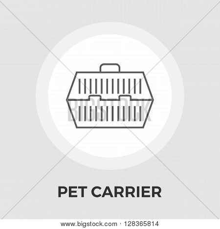 Pet Carrier Icon Vector. Flat icon isolated on the white background. Editable EPS file. Vector illustration.