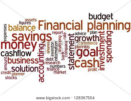 Financial Planning, Word Cloud Concept 6