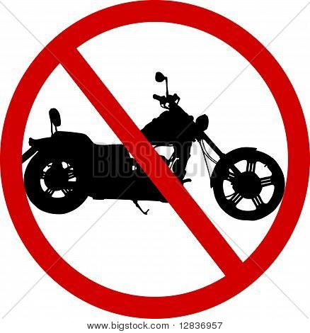 No Motorcycle Sign