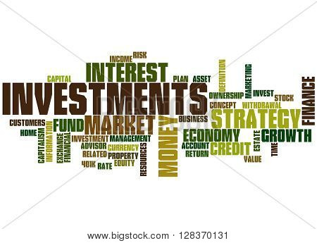 Investments, Word Cloud Concept 9