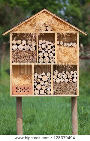 New beekeeper insect hotel in free nature