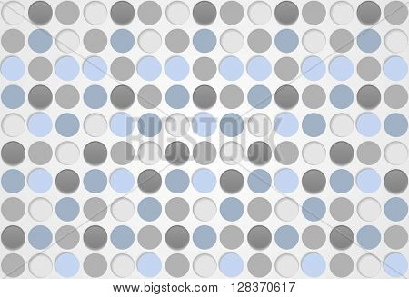Blue and grey circles abstract pattern background. Vector graphic design