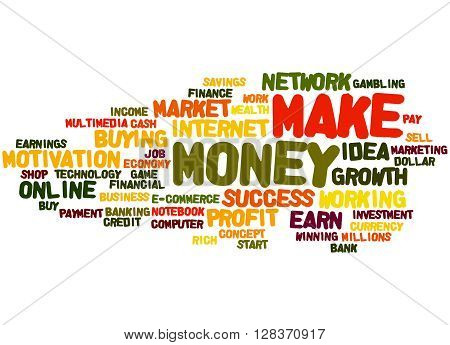 Make Money, Word Cloud Concept 8