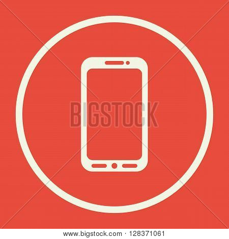 Cellphone Icon In Vector Format. Premium Quality Cellphone Symbol. Web Graphic Cellphone Sign On Red