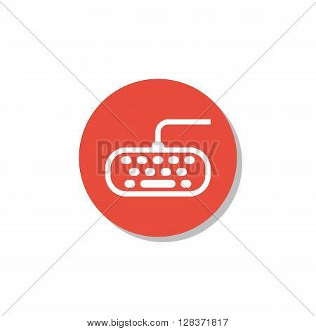 Keyboard Icon In Vector Format. Premium Quality Keyboard Symbol. Web Graphic Keyboard Sign On Red Ci