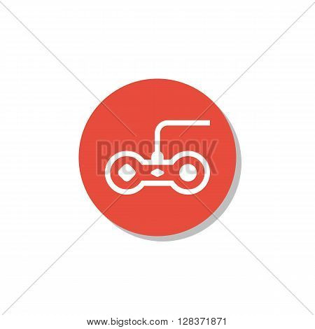 Joystick Icon In Vector Format. Premium Quality Joystick Symbol. Web Graphic Joystick Sign On Red Ci