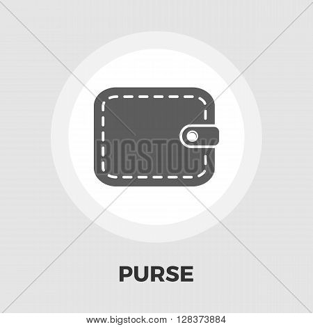 Purse icon vector. Flat icon isolated on the white background. Editable EPS file. Vector illustration.