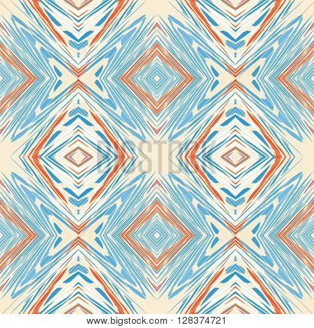 Seamless pattern. Geometrical background with rhombuses in a retro style. Vector illustration