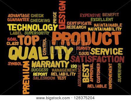 Product Quality, Word Cloud Concept 8
