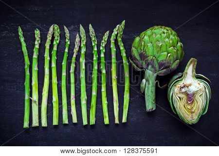 Asparagus And Artichoke, Top View