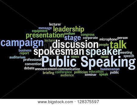 Public Speaking, Word Cloud Concept 2
