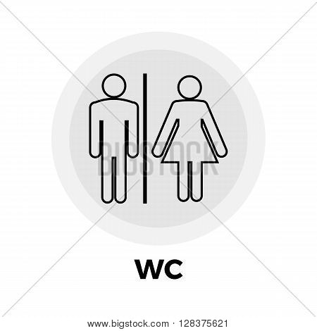 WC icon vector. Flat icon isolated on the white background. Editable EPS file. Vector illustration.