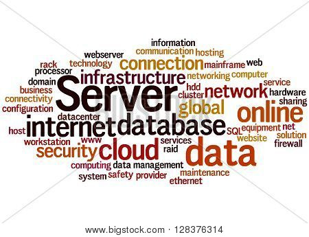 Server, Word Cloud Concept