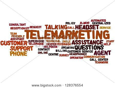 Telemarketing, Word Cloud Concept