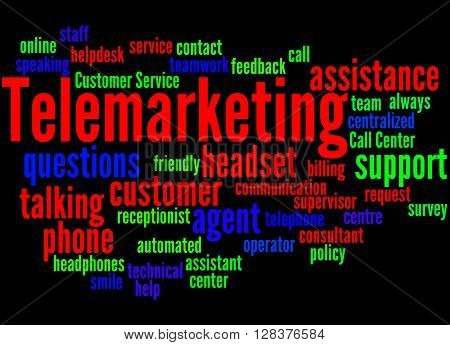 Telemarketing, Word Cloud Concept 2