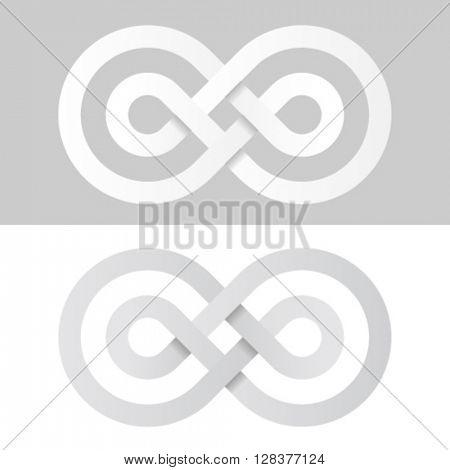 infinity eternity white paper symbol vector