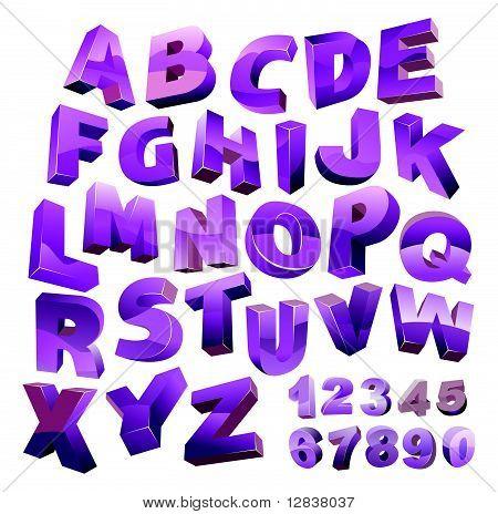 3d vector alphabet