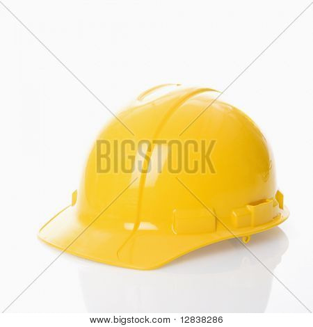 Yellow safety hard hat.