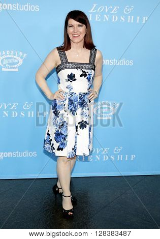 Kate Flannery at the Los Angeles premiere of 'Love And Friendship' held at the DGA Theater in Hollywood, USA on May 3, 2016.