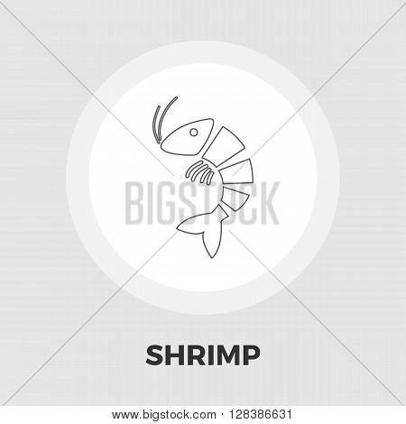 Shrimp icon vector. Flat icon isolated on the white background. Editable EPS file. Vector illustration.