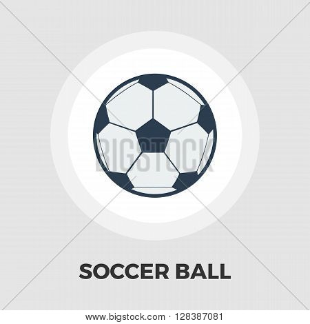 Soccer ball icon vector. Flat icon isolated on the white background. Editable EPS file. Vector illustration.