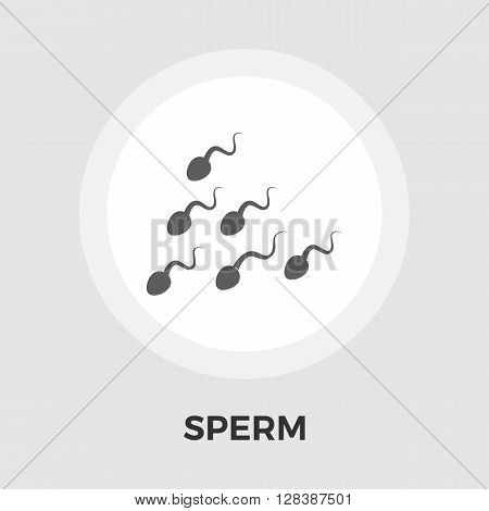 Sperm icon vector. Flat icon isolated on the white background. Editable EPS file. Vector illustration.