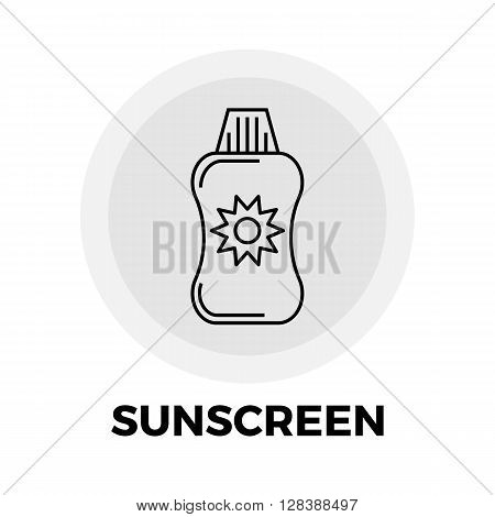 Sunscreen icon vector. Flat icon isolated on the white background. Editable EPS file. Vector illustration.