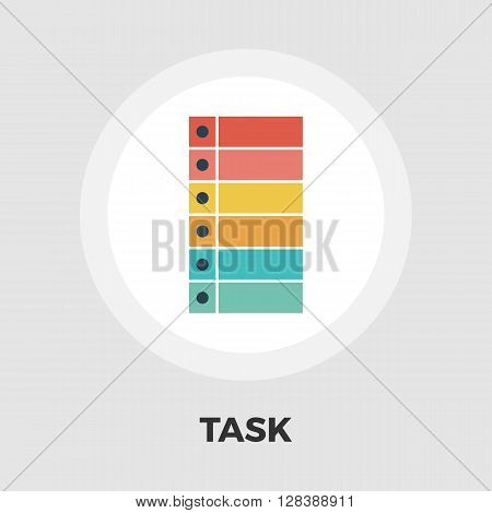 Check list icon vector. Flat icon isolated on the white background. Editable EPS file. Vector illustration.