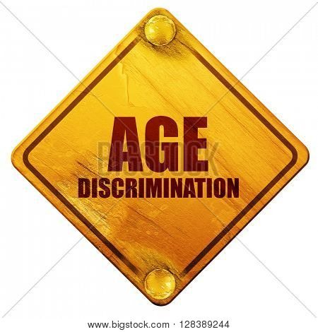 age discrimination, 3D rendering, isolated grunge yellow road si