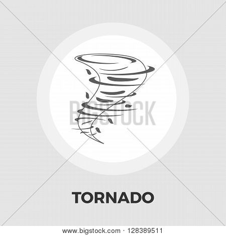 Tornado icon vector. Flat icon isolated on the white background. Editable EPS file. Vector illustration.