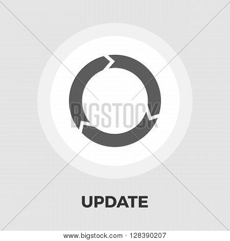 Update icon vector. Flat icon isolated on the white background. Editable EPS file. Vector illustration.