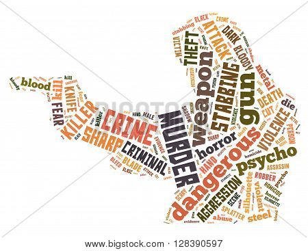 Gun Murder, Word Cloud Concept 4