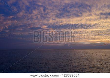 Sunset Sky and sea Background , Maldive