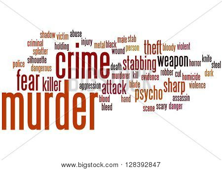 Murder, Word Cloud Concept 3