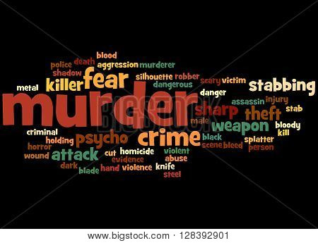 Murder, Word Cloud Concept 7
