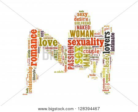 Sexy Women Word Cloud Concept